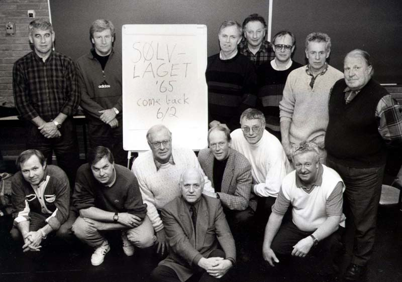 Хамар, чемпионат мира 1993 г. Серебряный состав сб. Норвегии 1965 года – почётный гость чемпионата.