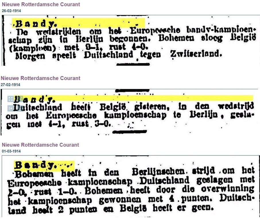Фото 7. Голландская пресса о чемпионате Европы 1914 года
