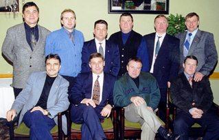 Сборы арбитров, декабрь 1999 г. Сергей Носов: верхний ряд, второй справа.