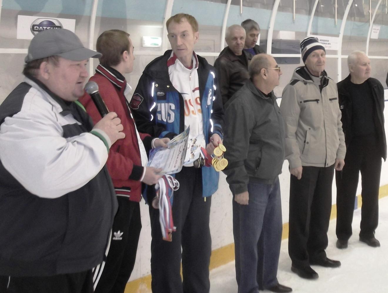 Чествование самарских ветеранов хоккея с мячом