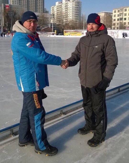 Олег Зиганшин и Никита Тюхай в Харбине.