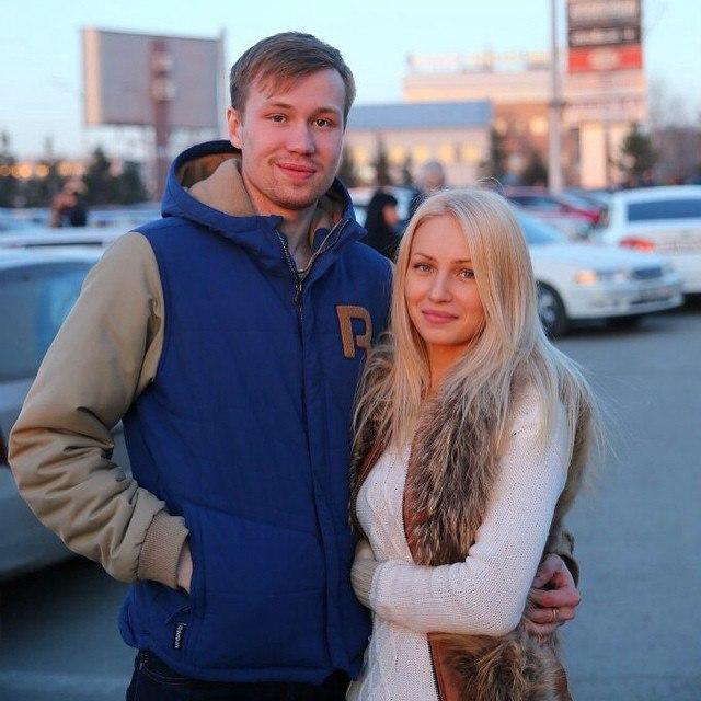 Руслан Гавричков с супругой (Фото из личного архива спортсмена)