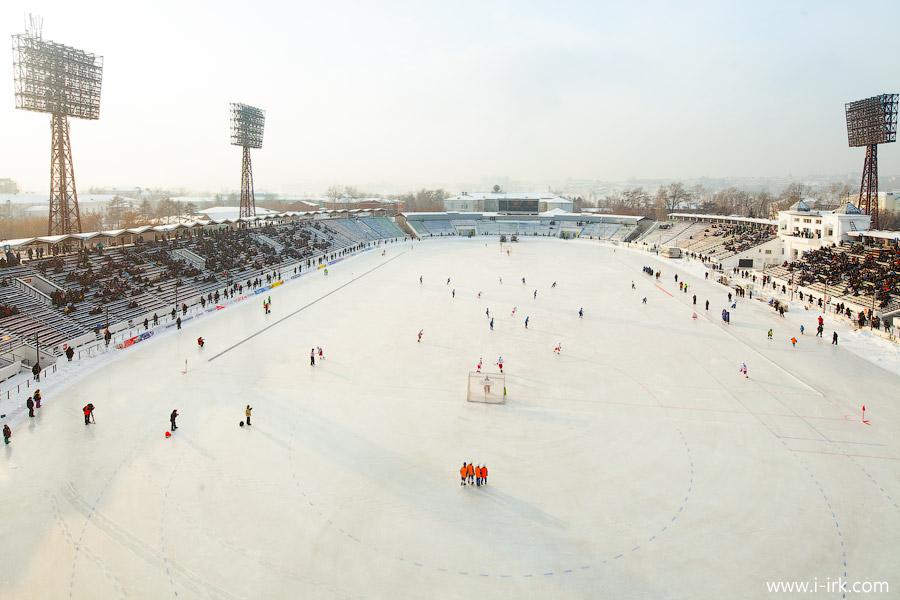 """На смену стадиону """"Труд"""" болельщики в Иркутске получат новый крытый стадион (Фото i-irk.com)."""