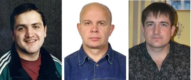 Тренеры кемеровской СШОР по хоккею с мячом Вадим Губарев, Вадим Гордеев и Максим Царёв.
