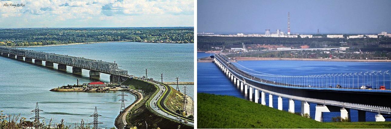 Императорский и Президентский мосты Ульяновска