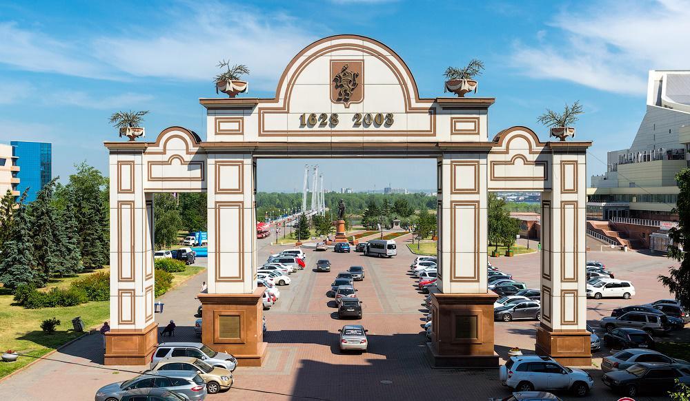 Исторические ворота города Красноярская – Триумфальная арка