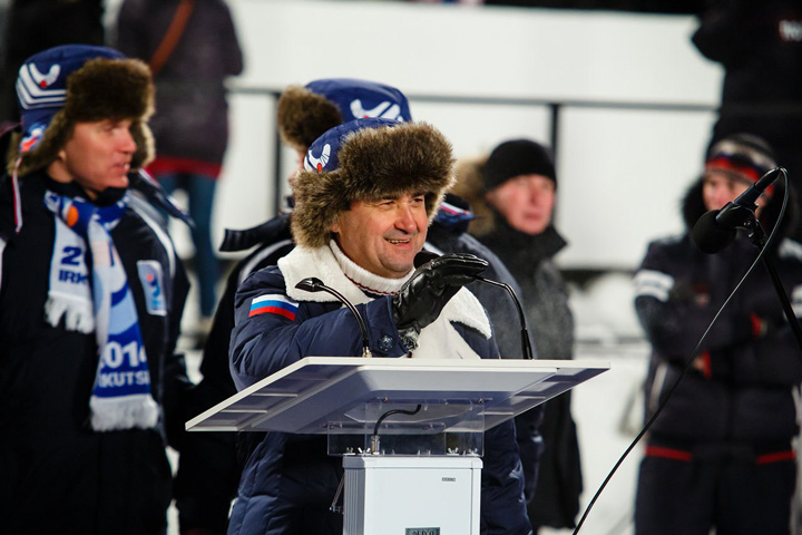 На ЧМ-2014 Игорь Левитин участвовал в церемонии открытия (Фото admirk.ru)