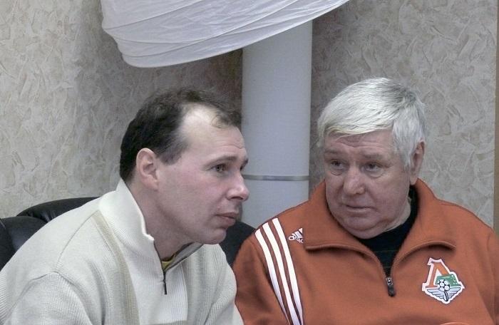 С легендарным В.П.Масловым (фото предоставлено А.Козловым)