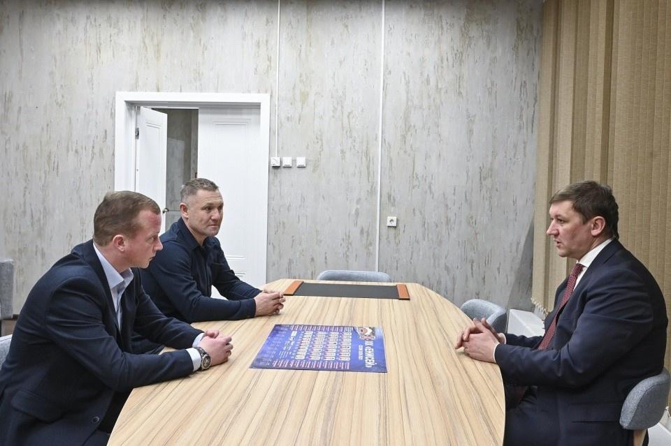 Алексей Плешаков и Павел Франц на встрече с Павлом Ростовцевым в Красноярске (январь 2021 года).